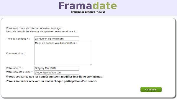 Framadate, l'autre outil pour choisir facilement une date