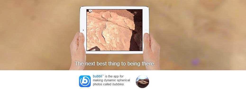 Créer votre photo 360° très simplement avec bubb.li