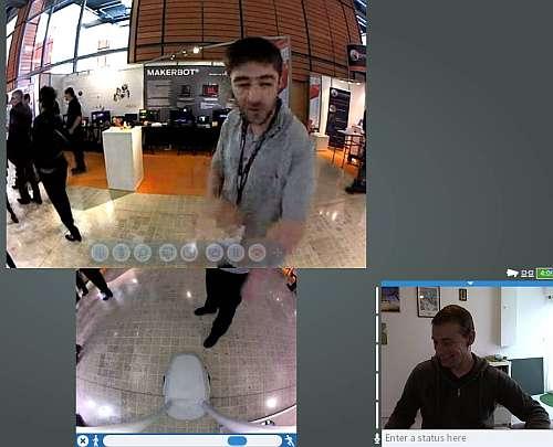 Une visite du salon Innorobo en robot de téléprésence