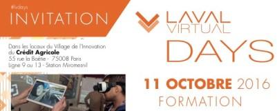 Rendez-vous le 11 octobre pour parler réalité augmentée et formation aux Laval Virtual Days !
